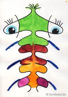 Was sind denn das für Kreaturen? Aliens/Monster aus gespiegelter Schreibschrift/Namen