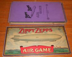 1925 Antique Board Game Zippy Zepps All Fair Zeppelin Game 5 Metal Toy Airships | eBay