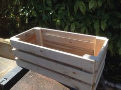 Create box with plained pallet wood