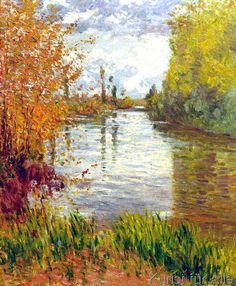 Gustave Caillebotte - G.Caillebotte, Nebenarm der Seine