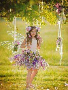 Fairy skirt only flower fairy skirt fairy by enchantedfairyco Fairy Skirt, Fairy Dress, Fairy Photography, Children Photography, Flower Skirt, Flower Girl Dresses, Fairy Photoshoot, Foto Fantasy, Fairies Photos