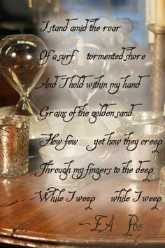 Edgar Allan Poe I love this poem, but is forget the name.... A dream within a dream.