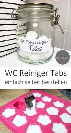 WC Reiniger Tabs DIY Anleitung WC Reiniger Tabs ganz einfach selber selber mache… Toilet cleaner tabs DIY instructions easily make your own plastic-free tabs yourself Diy Home Cleaning, Cleaning Hacks, Toilet Cleaning, Wc Tabs, Diy Dusters, Wc Decoration, Diy Home Crafts, Diy Hacks, Clean House