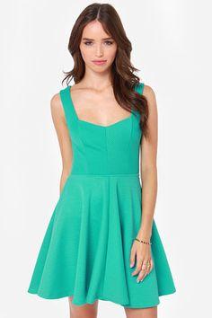 Others Follow Grainline Dress - Sea Green Dress - Skater Dress - $47.00