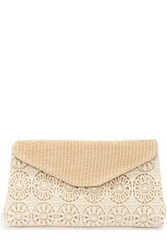 Crochet In Touch Cream Lace Clutch