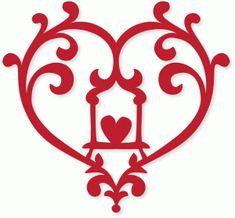 Silhouette Design Store - View Design #43306: loni leah heart swing
