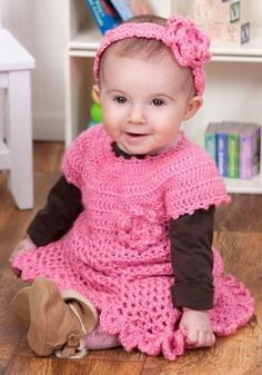 Little Sweetie Dress & Headband in Red Heart Soft Baby Steps Solids - LW2900. Discover more Patterns by Red Heart Yarns at LoveKnitting. The world's largest range of knitting supplies - we stock patterns, yarn, needles and books from all of your favorite brands.