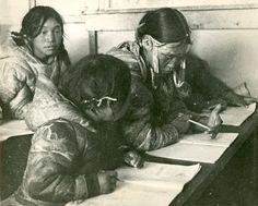 Inuvialuit girls at School - no date