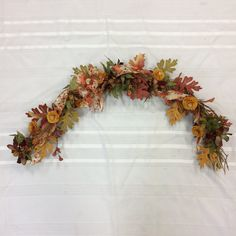 Your place to buy and sell all things handmade Swag Swag, Door Swag, Sunflower Arrangements, Floral Arrangements, Etsy Wreaths, Fall Swags, Fall Scarecrows, Scarecrow Wreath, Wax Flowers