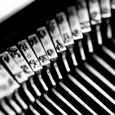Still Life Photography -Abstract Macro Letterpress 4x4 still life Vintage typewriter lines geometric silver geekery writer letters. $7.00, via Etsy.