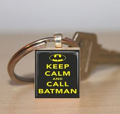 Scrabble Tile Keychain Keep Calm And Call Batman by IncrediblyHip