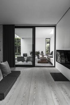 #interiors #modern #minimal #concrete #wood floors #wideplanksfloors #black&white - ARDESS, plastolux