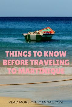 A basic guide to what first-time visitors can expect when they travel to Martinique.