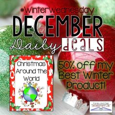 Save 50% Today Only!!! Go on a trip around the world to different countries to learn how they celebrate Christmas, Hanukkah, and Kwanza in the month of December. These PowerPoint presentations include video clips to make them fun and engaging. Classroom management is built into the presentation so students stay on task. Questioning is also built in to build comprehension. These videos are short and simple perfect for young learners.