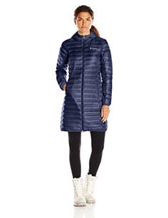 Columbia Womens Flash Forward Long Down Jacket Nocturnal Small * You can get additional details at the image link.(This is an Amazon affiliate link and I receive a commission for the sales)