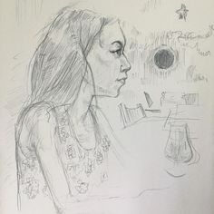 """15 Likes, 4 Comments - Calvin VanKeersbilck (@calvin_reclassified) on Instagram: """"It's a drawing of Kat, That I did at the drink and draw last night. #draw #drawing #artist #art…"""""""