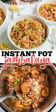 A spicy stew with sausage, chicken and shrimp, Jambalaya warms your belly and your soul! This Instant Pot Jambalaya Recipe makes it easy to have a flavorful Cajun meal on the table any night of the week.