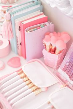 Making my workspace so cute and girly is always at the top of my list! In fact I never stop updating it because it's just one of those things that I do that mak