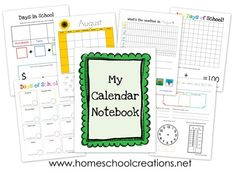Don't miss these free Calendar Notebook Binder Printables from Homeschool Creations! Calendar Notebook, Notebook Binder, Calendar Board, Calendar Time, Kids Calendar, Free Calendar, School Calendar, Daily Calendar, Monthly Calendars