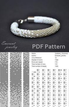 Seed Bead Bracelets Tutorials, Beaded Bracelets Tutorial, Necklace Tutorial, Beading Tutorials, Necklace Ideas, Bead Crochet Patterns, Seed Bead Patterns, Bead Crochet Rope, Weaving Patterns