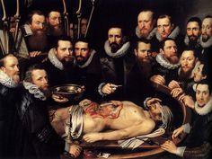 'Anatomy Lesson of Dr. Willem van der Meer', oil on canvas by Michiel Jansz van Mierevelt, 1617.Lección de Anatomía del Dr. Willem van der Meer (1617), Michael Jansz van Mierevelt