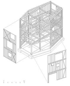 Wolf House : By Pezo von Ellrichshausen Arquitectos Architecture Design, Famous Architecture, Chinese Architecture, Architecture Drawings, Contemporary Architecture, Pezo Von Ellrichshausen, San Pedro, Timber House, Wolf