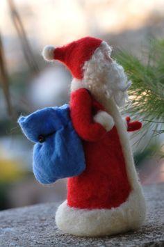 Needle felted Waldorf Santa Claus-