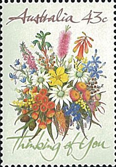 Australia Stamp JH1178, 1990 Thinking of You, Flower, Flora, Plant