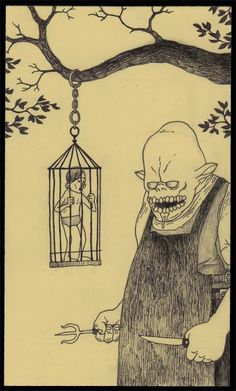 Image de john kenn, don kenn, and john kenn mortensen Scary Drawings, Dark Art Drawings, Monster Drawing, Monster Art, Arte Horror, Horror Art, Don Kenn, Sad Paintings, Post It Art