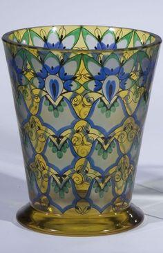 Vase Fachschule Haida Oertel Glass Art Deco old