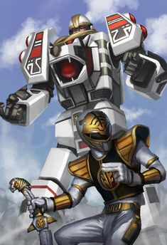 Mighty Morphin Power Rangers: White Ranger, and White Tigerzord Power Rangers Fan Art, Power Rangers Cosplay, Power Rangers 2017, Power Rangers Movie, Mighty Morphin Power Rangers, Tommy Oliver Power Rangers, Desenho Do Power Rangers, Powe Rangers, Rangers Top