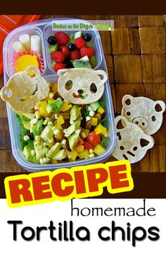 Recipe - Homemade tortilla chip with taco salad #easylunchbox @CuteZcute @EasyLunchboxes @Christina Childress