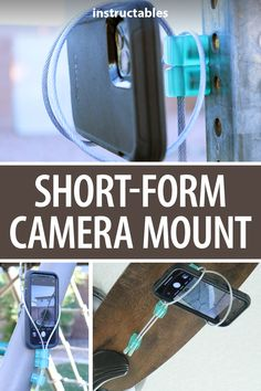 Mrballeng designed this short-form camera mount to allow you to put your cell camera phone in many unlikely places. #Instructables #photography #3Dprint #Fusion360 #camera Fusion 360, Ceiling Fan Blades, Protective Gloves, Short Form, Neodymium Magnets, Camera Phone, Basic Shapes, Style Challenge, Photography Projects