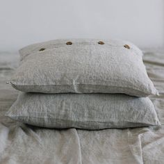 Organic 100% Linen Square Cushion Covers