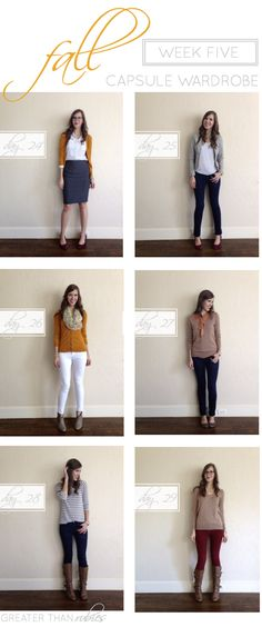 Fall Capsule Wardrobe Remix: Week 5 Part of a multi-week collection with 30 unique outfits