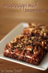 Six Sisters Mississippi Mud Brownies are soft and chewy and loaded with fudgy goodness!