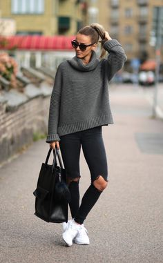 Knits and denim.