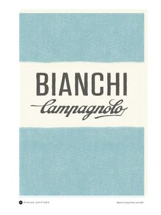 Bianchi Campagnolo Poster representing the 40's and 50's Era of cycling and the Tour de France (15.00 CAD) by UnitedDesignCo