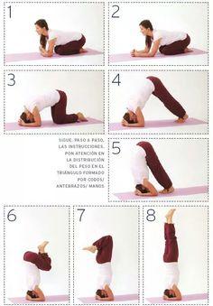 yoga pararse de cabeza tecnica