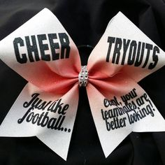 Cheer Bow Cheer Tryouts like football except your teammates are better looking Cheer Tryouts, Cheer Coaches, Cheerleading, Cute Cheer Bows, Cheer Hair Bows, Cheer Outfits, Kids Outfits, Cheer Pictures, Cheer Pics