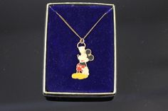 NOS VTG Walt Disney Production Mickey Mouse Hanging from a Hoop Pendant Necklace  | eBay