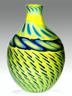 Jeffery Phelps Colored Glass, Fused Glass, Blue Yellow, Vases, Glass Art, Drop, Inspiration, Collection, Home Decor