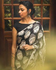 Indian Attire, Indian Outfits, Indian Clothes, Indian Dresses, Indian Wear, Casual Saree, Formal Saree, Kalamkari Saree, Sari Blouse Designs