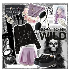 """""""Pastel goth day"""" by scar-memory ❤ liked on Polyvore featuring Mantaray, Guide London, Sweetbox, Lord & Berry, Noir Cosmetics, Ileana Makri, Luxury Fashion, women's clothing, women's fashion and women"""