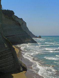 Peroulades beach, Corfu, Greece.  An amazing time of my life - fond memories of Corfu & Santorini.