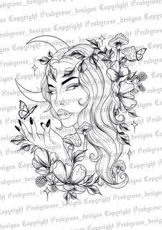 Medusa Tattoo Design, Virgo Tattoo Designs, Tattoo Design Drawings, Tattoo Sketches, Virgo Tattoos, Nature Tattoos, Body Art Tattoos, Small Tattoos, Sleeve Tattoos
