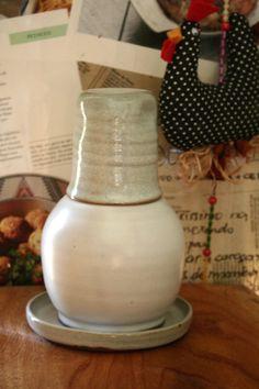 moringa cerâmica - 1/2 litro com copo  água fresca Muriqui Cerâmica