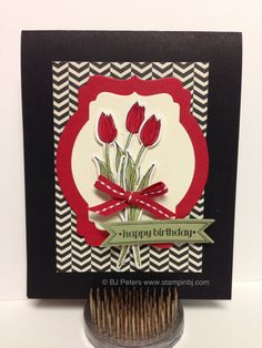Backyard Basics Bouquet.  This stamp set really has lots of possibilities.  www.stampinbj.com, BJ Peters, Stampin' Up!