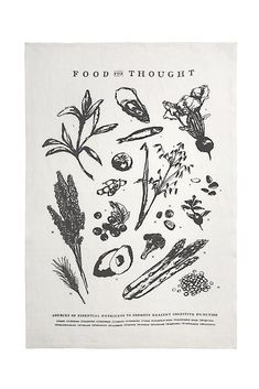Food For Thought Tea Towel design by Sir/Madam