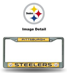 NFL Pittsburgh Steelers Bling Chrome Plate Frame * Learn more by visiting the image link.